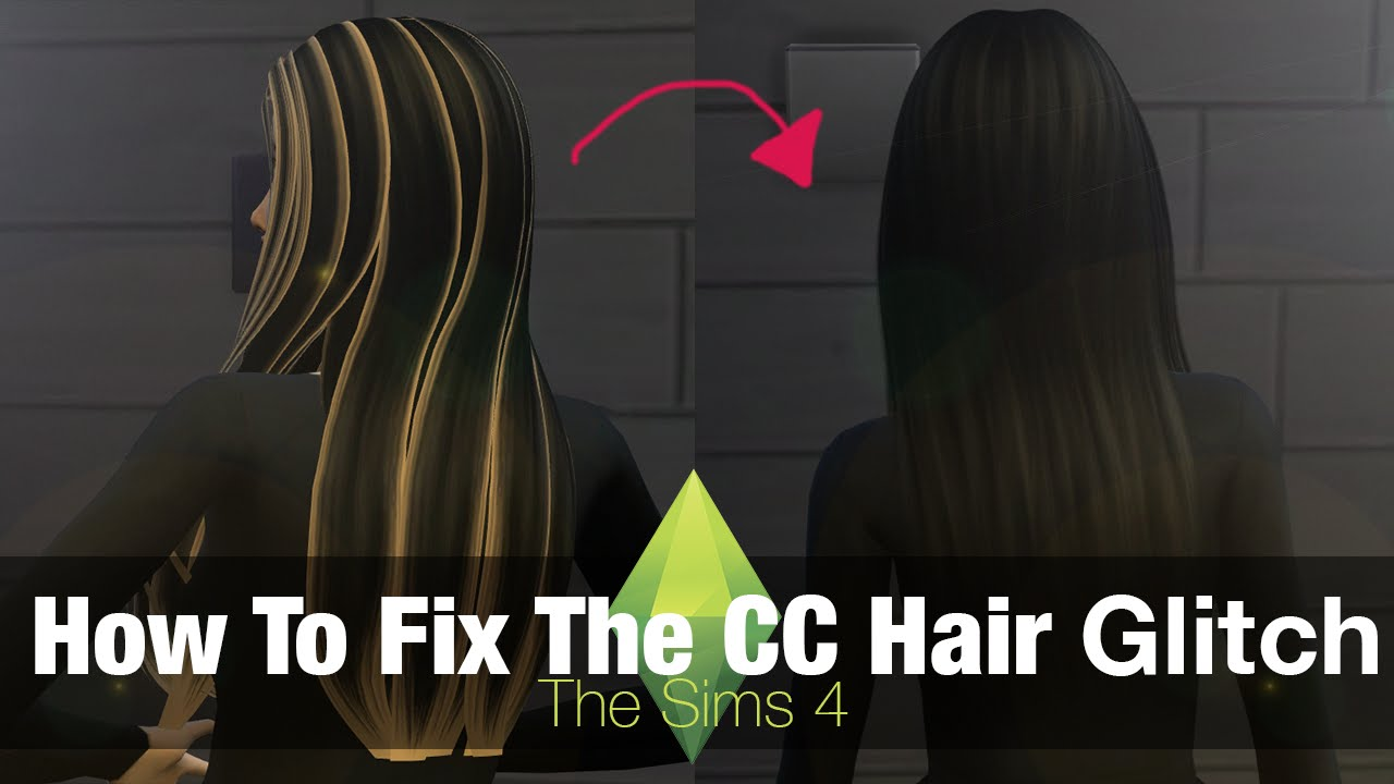 The Sims 4 Tutorial How To Fix Custom Content Hair Glitch