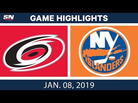 NHL Highlights | Hurricanes vs. Islanders - Jan. 8, 2019