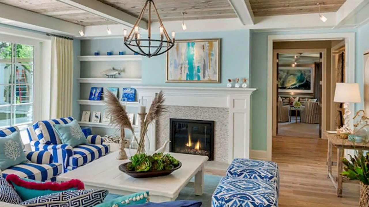50+ Comfy Coastal Living Room Decorating Ideas - YouTube