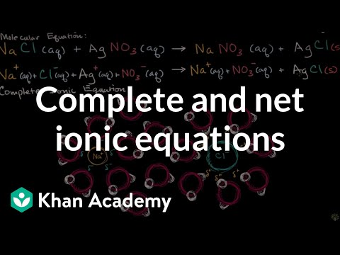 Complete Ionic And Net Ionic Equations | Chemistry | Khan Academy