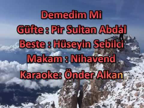 Demedim mi karaoke (Mevlana) Pir Sultan Abdal