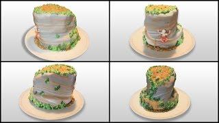 Rock Climbing Cake - Marbled Fondant