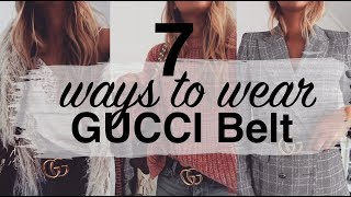 7 WAYS TO WEAR THE GUCCI BELT | LOOKBOOK & TRY ON | SINEAD CROWE