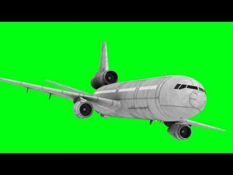 boeing transporter in green screen free stock footage