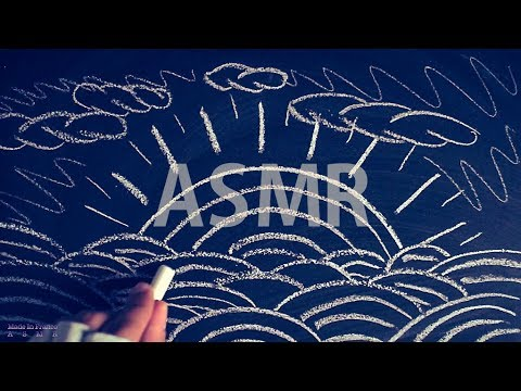 [ASMR] Chalk on Blackboard #1 - NO TALKING