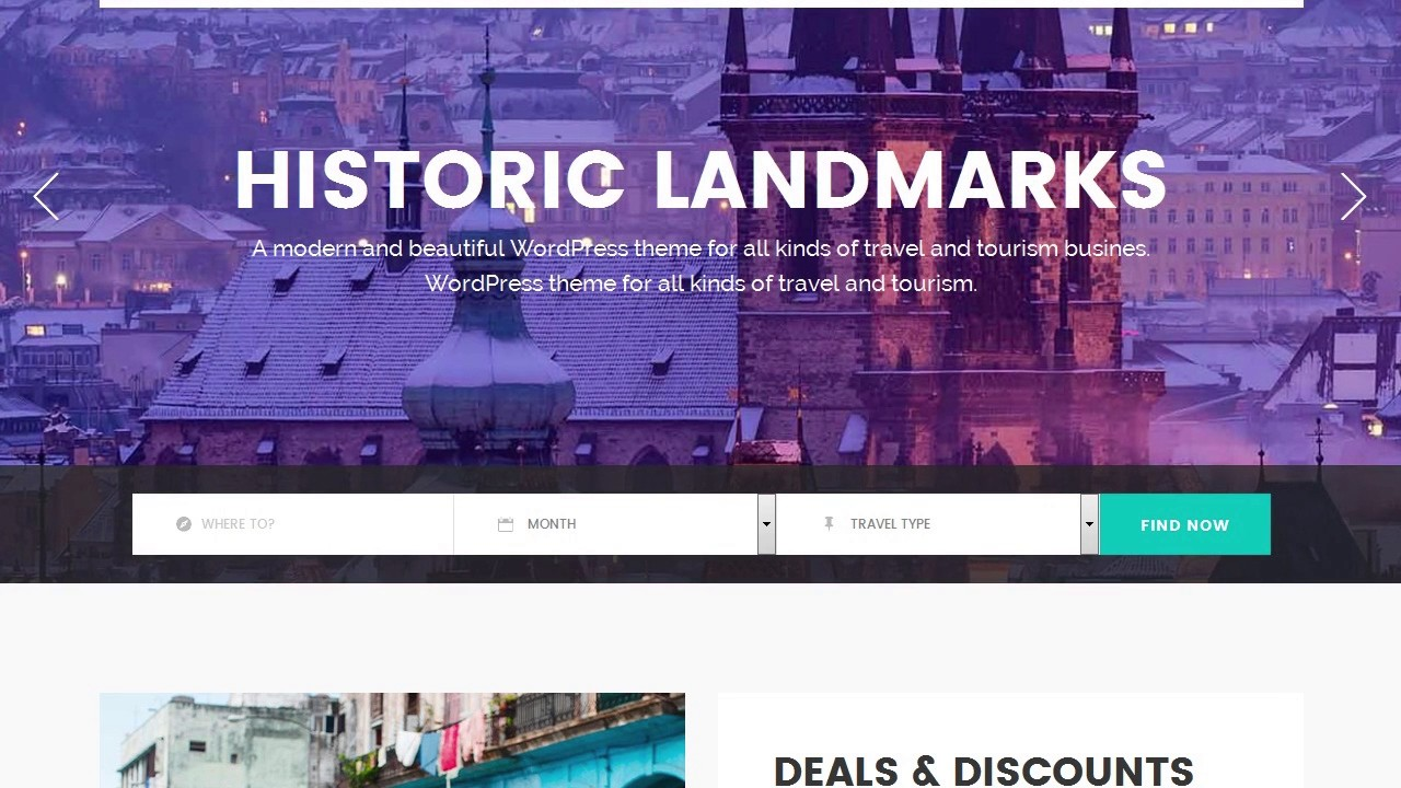 GoTravel - A Travel Agency and Tourism Theme