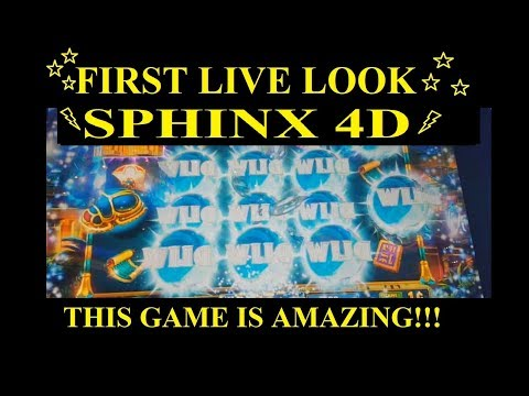 **NEW** SPHINX 4D SLOT MACHINE - FIRST LIVE LOOK w/ALL BONUSES + BIG WINS!!