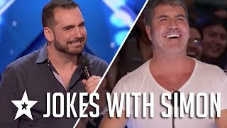 Comedian Harrison Greenbaum Jokes With Judge Simon Cowell On America's Got Talent 2017