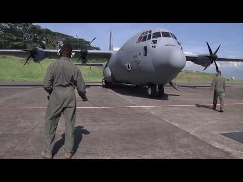 US PACAF C-130J First Operational Mission to Clark Airbase Philippines