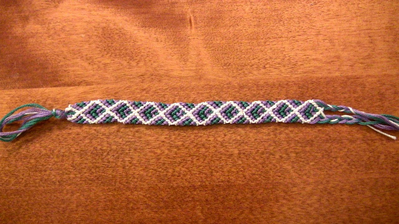 bracelet net instructions knot friendship pattern bracelets diamond