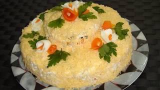Куриный салат с черносливом Салат ^^День и Ночь^^