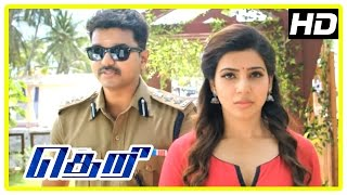 theri movie scenes vijay tries convincing samanthas father mahendran wants vijay dead