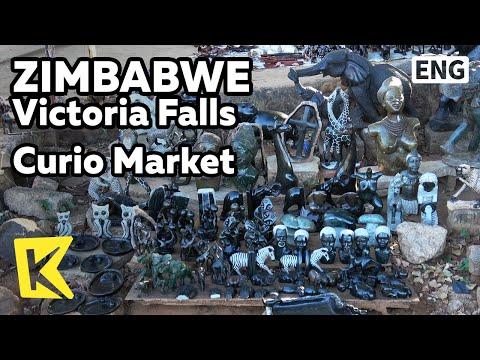 【K】Zimbabwe Travel-Victoria Falls[짐바브웨 여행-빅토리아폴스]큐리오 마켓의 전통 기념품/Curio Market/Handicraft/Souvenir