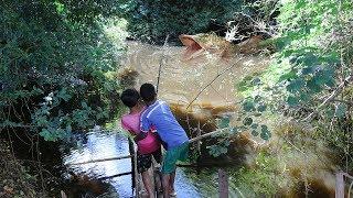 Khmer Survival Fishing Challenge Amazing Two Boys Hook Big Fish In Large Lake