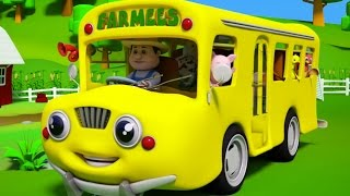 Колеса на автобусе | стишки для детей | детские песни | Wheels On The Bus | Songs For Babies & Kids