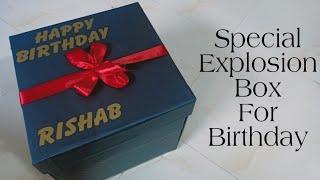 Birthday Explosion Box|| Best Birthday Gift || Special Explosion Box || Explosion Box