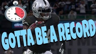 WORLD RECORD MADDEN 18 SPEED RUN? FASTEST DRAFT CHAMPIONS SUPER BOWL EVER MUT ULTIMATE TEAM GAMEPLAY