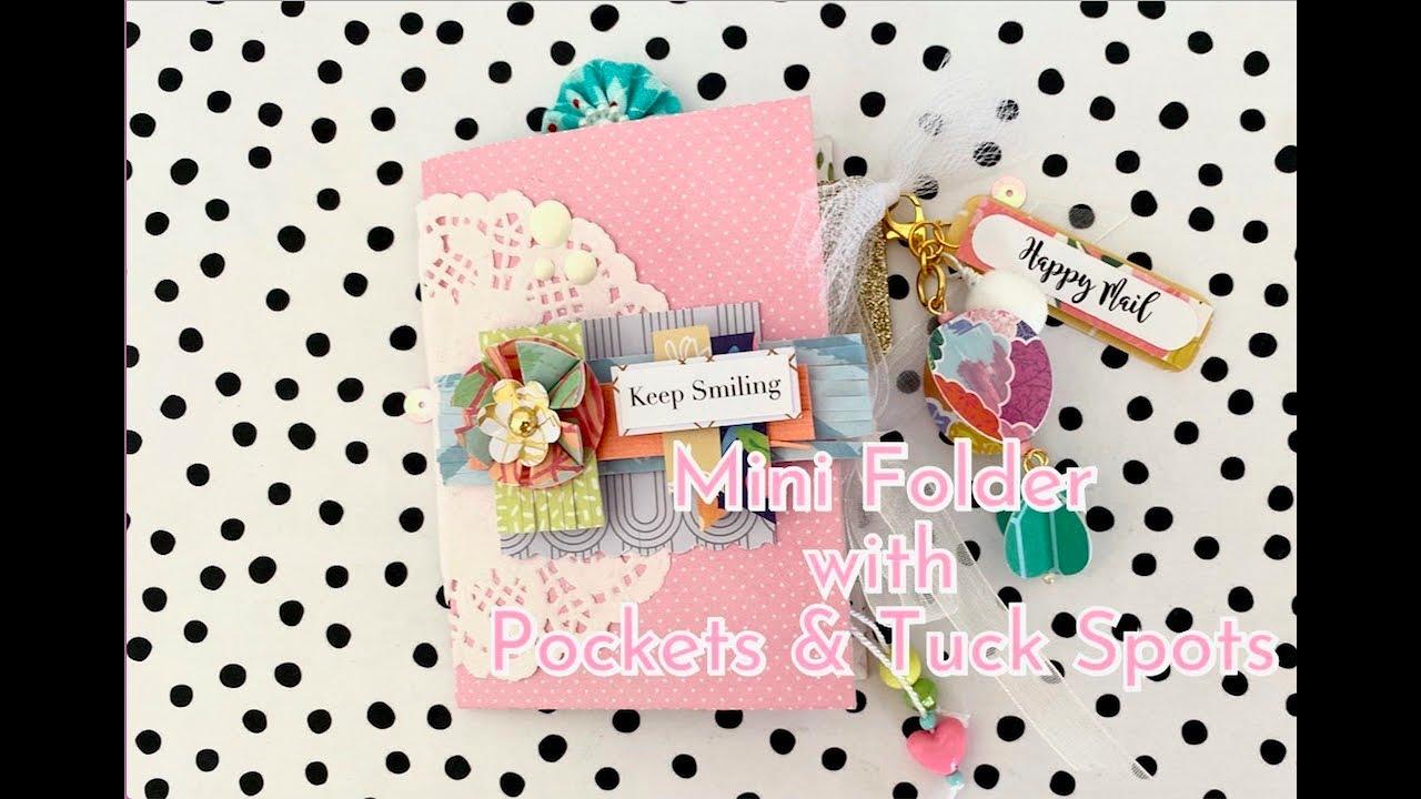 6x8 Paper   Mini Folder with Pockets & Tuck Spots   Happy Mail Idea   Junk Journal