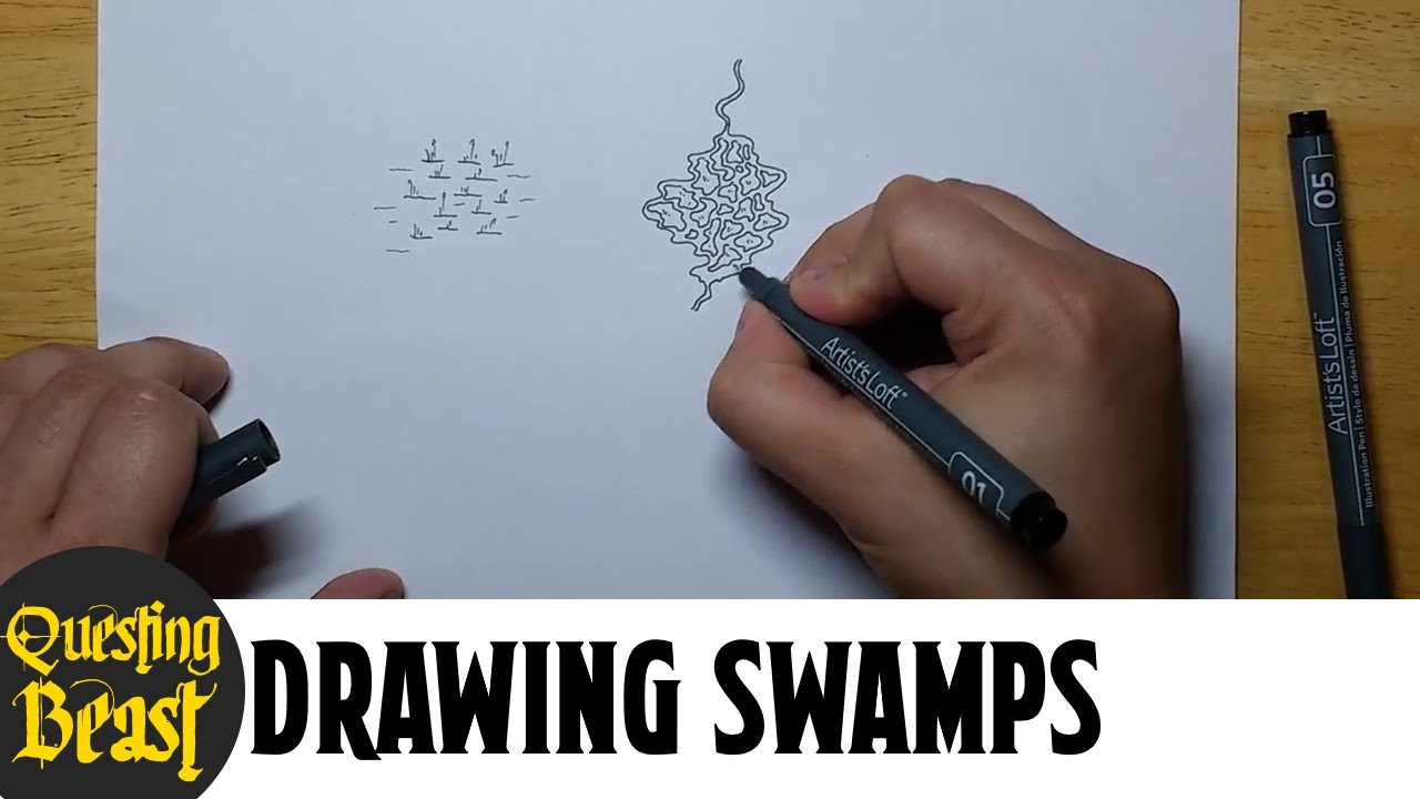 How To Draw Swamps Fantasy Mapmaking Tutorial For Dnd Youtube