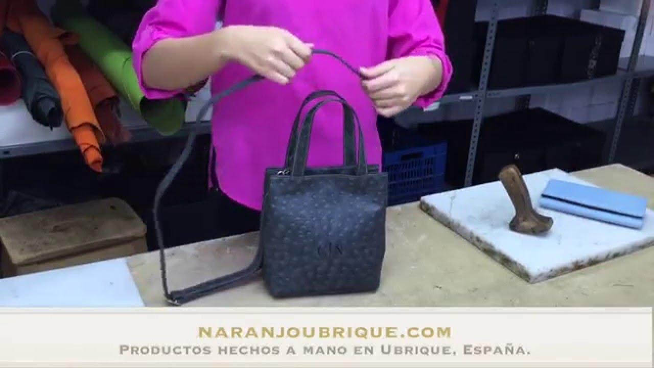 Bolso de piel para mujer pin avestruz - YouTube
