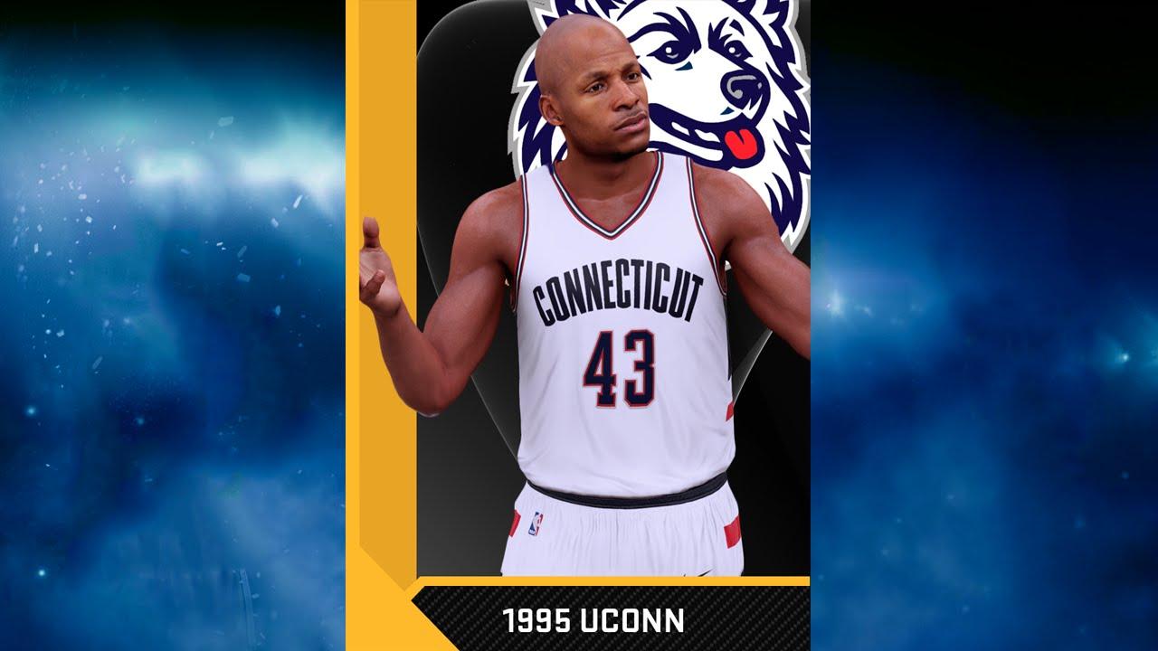 39fa19427 NBA 2K16 1995 UConn Huskies (Ray Allen) Jersey   Court Tutorial - YouTube