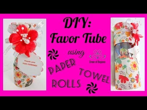 Paper Towel Roll Favor Tubes| Paper Towel Crafts| DIY Paper Towel Favor Boxes | TP Roll Gift Box