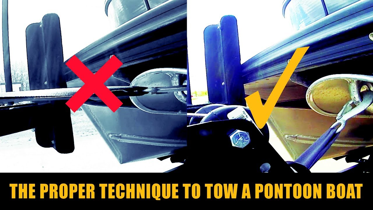 maxresdefault how to tow a pontoon boat wpm youtube