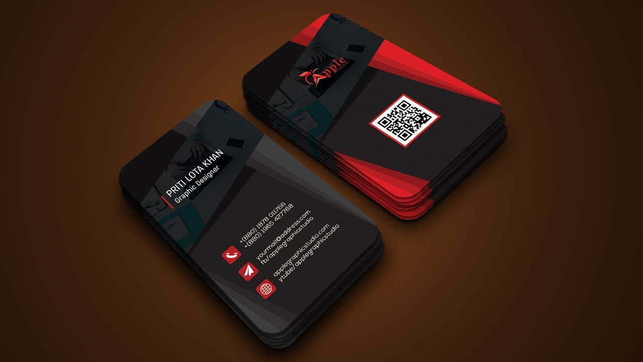 Awesome 3d Business Card Design Photoshop Tutorial Youtube