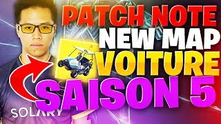 SAISON 5 DE FORTNITE : NOUVELLE MAP ? NOUVELLE VOITURE & NERF DOUBLE POMPE ! - PATCH NOTE KINSTAAR