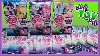 EQUESTRIAN FRIENDS! | Opening 25 Packs! | My Little Pony & Equestria Girls Cards! | Bin's Toy Bin