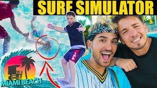 SURF SIMULATOR 🏄 a MIAMI! 🇺🇸 *pericoloso*   Matt & Bise