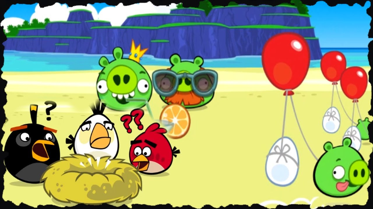 Angry birds surf and turf mobile game walkthrough all - Angry birds trio ...