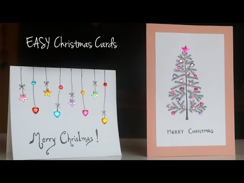 Easy Christmas Card Ideas Handmade Greetings Card Christmas Diy Crafts Youtube