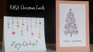 Easy Christmas Card Ideas | Handmade Greetings Card | Christmas DIY Crafts