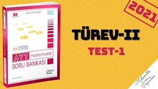 345 AYT 2021 MATEMATİK TÜREV-2 TEST-1 ÇÖZÜMLERİ