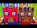 REDSTONE VS BEDROCK | TRAP HOUSE OP BATTLE