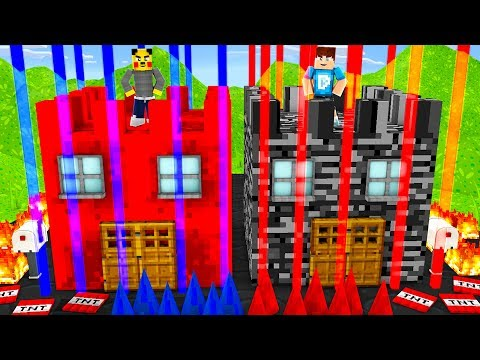 REDSTONE VS BEDROCK  TRAP HOUSE OP BATTLE