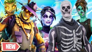 NEW Halloween Skins In Fortnite: Battle Royale Gameplay!