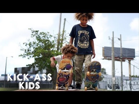 Thumbnail: The Amazing Skateboard Brothers Aged 8 And 2 | KICK-ASS KIDS