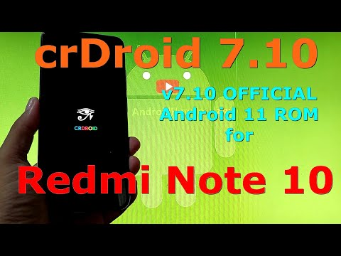 crDroid 7.10 OFFICIAL for Redmi Note 10 ( Mojito / Sunny ) Android 11