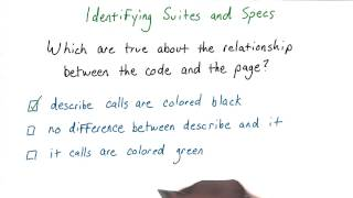 Identifying Suites and Specs Solution - JavaScript Testing