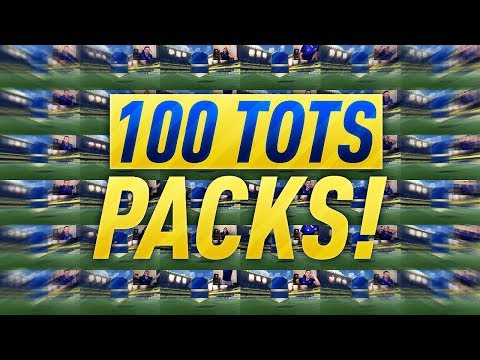 100 TOTS PLAYERS IN A SINGLE PACK OPENING ON FIFA 17!! WALKOUTS!!