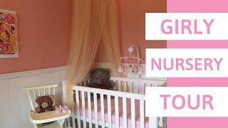 FINAL NURSERY TOUR! How to DIY a Girly Pink Nursery on a budget
