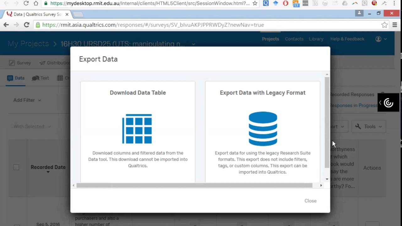 how to get data from qualtrics to spss