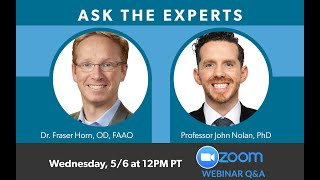 MacuHealth Webinar Series #3: Ask the Experts with Dr Fraser Horn and Professor John Nolan