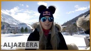 التزلج النسائي في جبال الألب يغلق الفجوة بين الجنسين