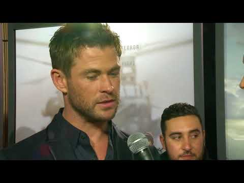 Chris Hemsworth at the 12 Strong Premiere talks horseback riding with Brad Blanks