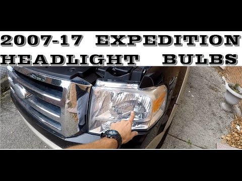 How to change replace headlight bulb and turn sinal in 2007-2017 Ford Expedition