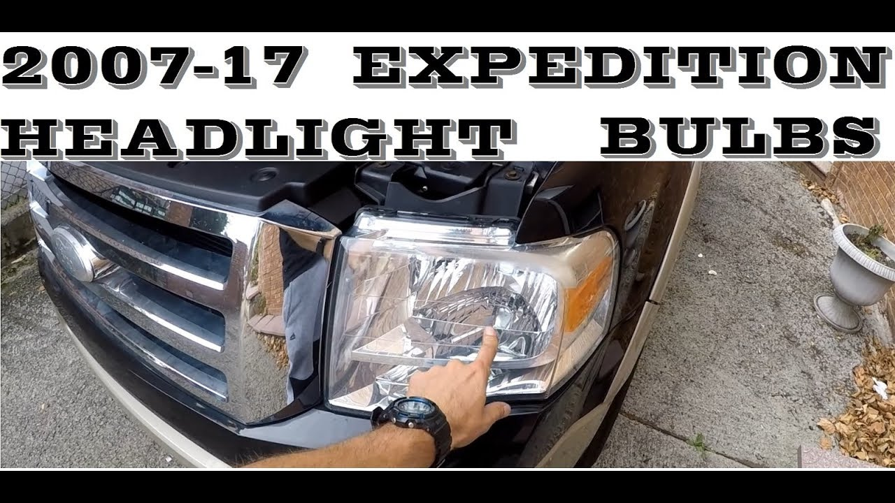 How To Change Replace Headlight Bulb And Turn Sinal In 2007 2017 Ford Expedition