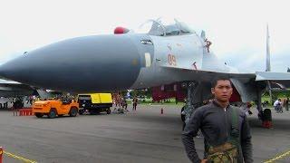 Sukhoi SU 30 mki TNI AU Indonesia (Pameran Pesawat Tempur Indonesia - Gebyar Dirgantara Yogyakarta)